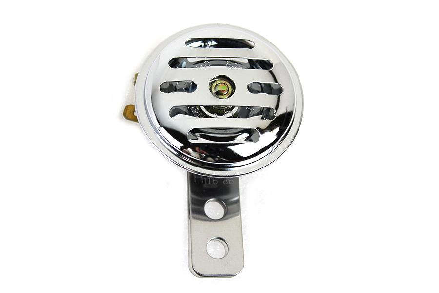 Slotted Style 12 Volt Mini Horn Chrome