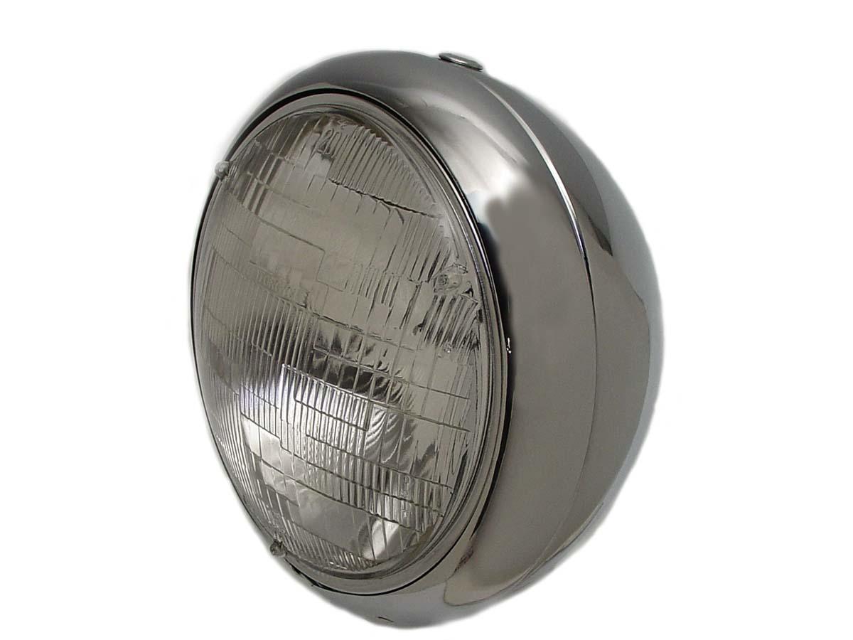 """Vintage 7"""" Round Headlamp 12 Volt"""