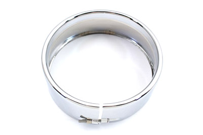"5-3/4"" Outer Headlamp Chrome Frenched Trim Ring"