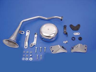Trumpet Style 6 Volt Chrome Horn Kit