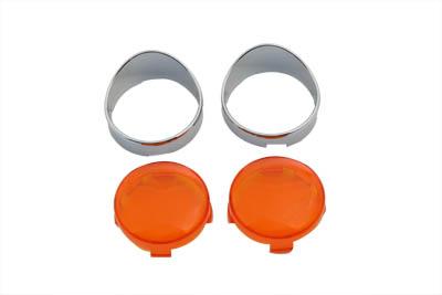 Turn Signal Bullet Style Flat Lens Visor Set