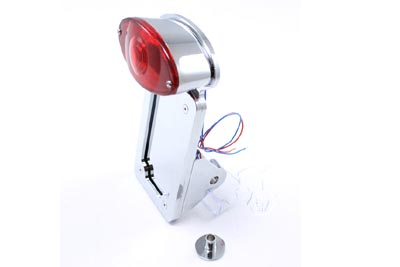 Chrome Cateye Style Tail Lamp Kit