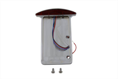 Tail Lamp and License Plate Vertical Side Mount Slice Style