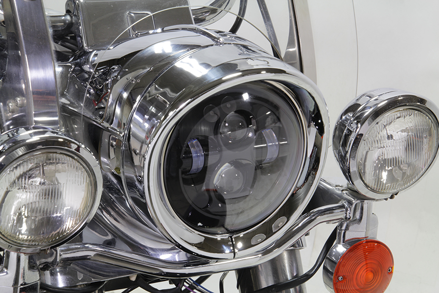 Outer Headlamp Chrome Frenched Trim Ring with Visor