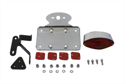 Chrome Cateye Tail Lamp Kit Horizontal Mount