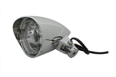 """3-1/2"""" Round Headlamp Billet with Visor"""