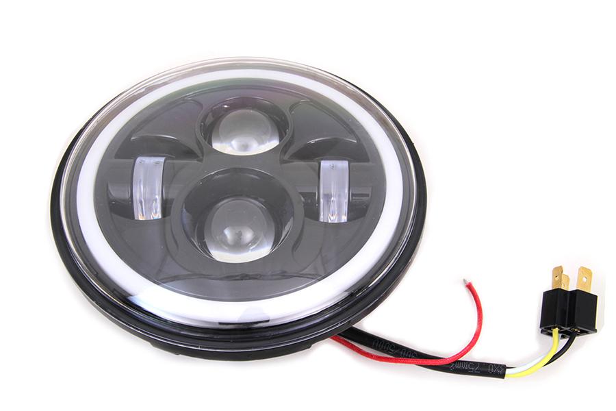 "7"" LED Headlamp Unit Black"