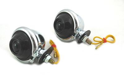 Chrome Turn Signal Set Bullet with Smoked Lens
