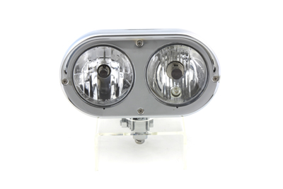 "Dual Headlamp with 4"" Twin Bulbs"