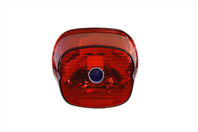 Tail Lamp Lens Laydown Style Red with Blue Dot