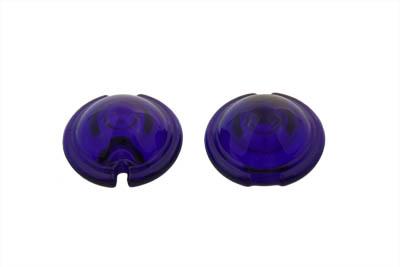 Replica Marker Lamp Lens Glass Bullet Style Cobalt Blue