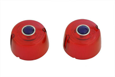 Turn Signal Lens Set Red with Blue Dot