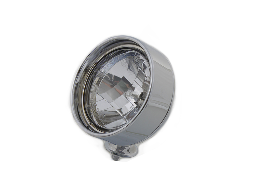 """Chrome 4"""" Spotlamp with H-3 Bulb Inset Type"""