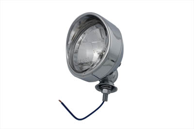"Chrome 4"" Spotlamp with H-3 Bulb Visor Type"