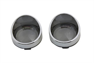 Chrome Turn Signal Bezel Smoke Lens