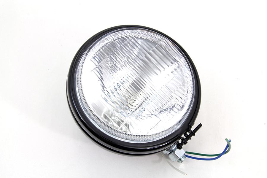 "5-3/4"" Round Stock Type Black Headlamp"