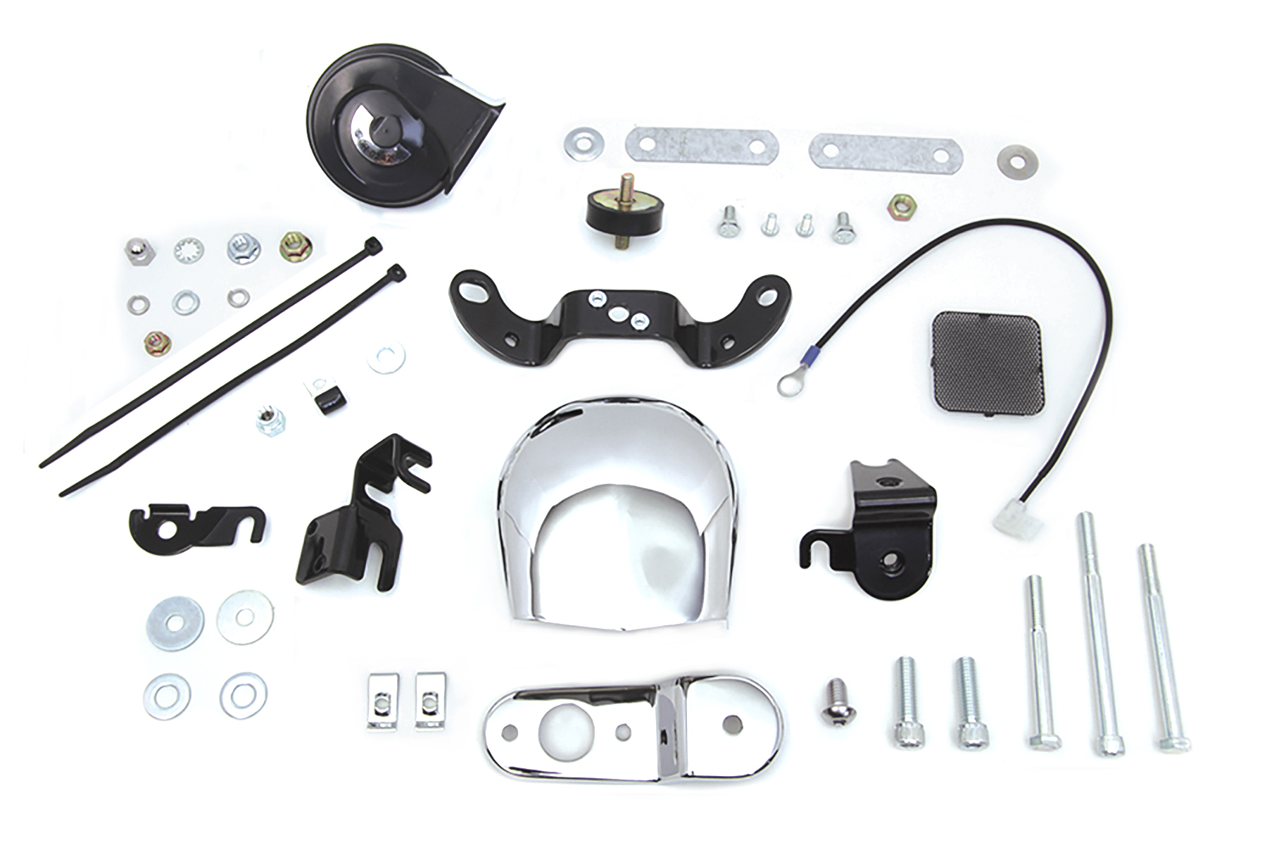 12 Volt Chrome Horn Kit