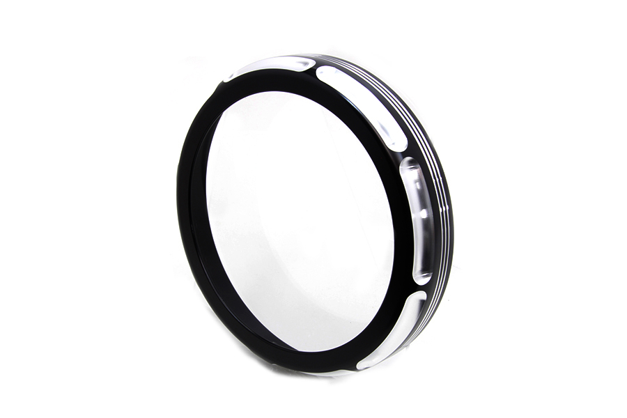 "7"" Black Anodize Burst Headlamp Trim Ring"