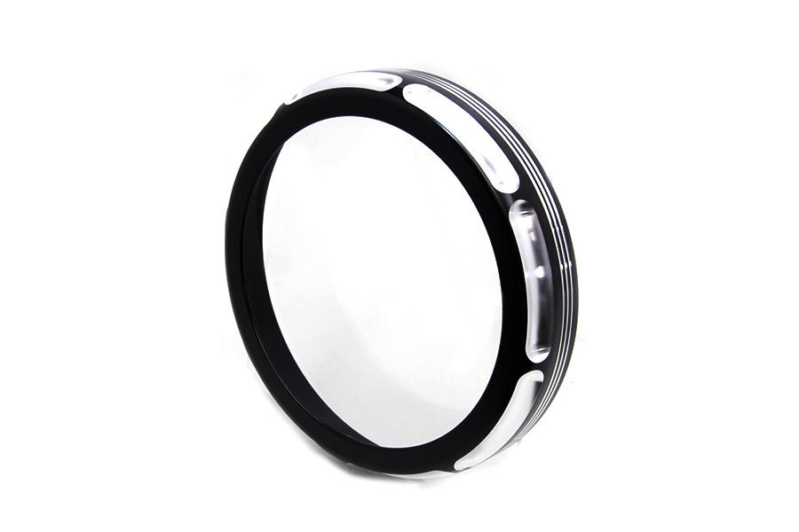 "7"" Black Anodize Burst Headlamp Trim Ring"