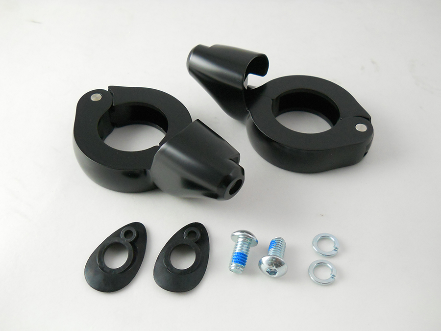 Black Turn Signal Relocation Kit 39mm Forks