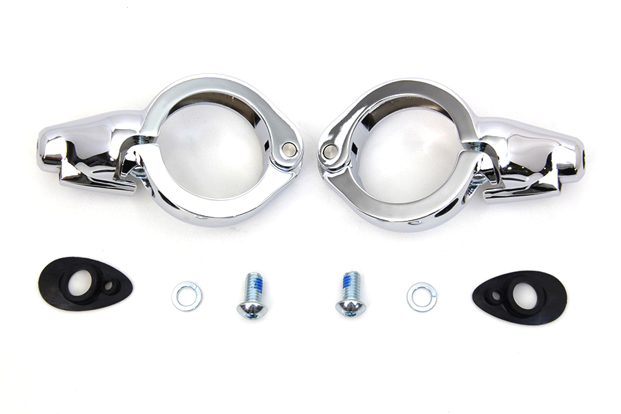 Chrome Turn Signal Relocation Kit 49mm Forks