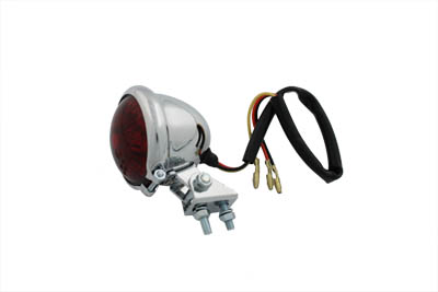 Round LED Tail Lamp with Red Lens