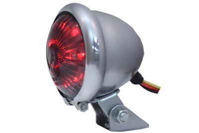Round LED Tail Lamp with Smoked Lens