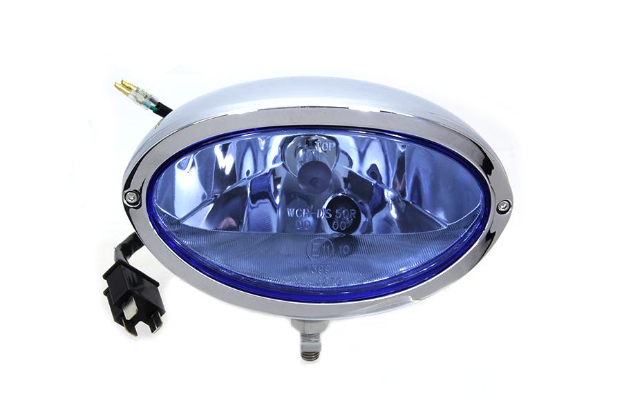 Chrome Oval Style Headlamp