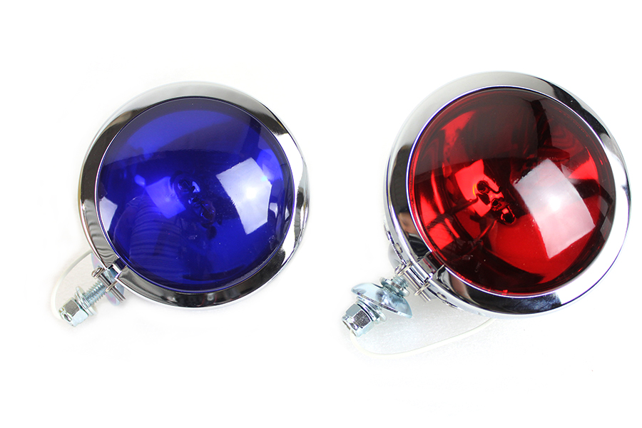 Red and Blue Police Spotlamp Set