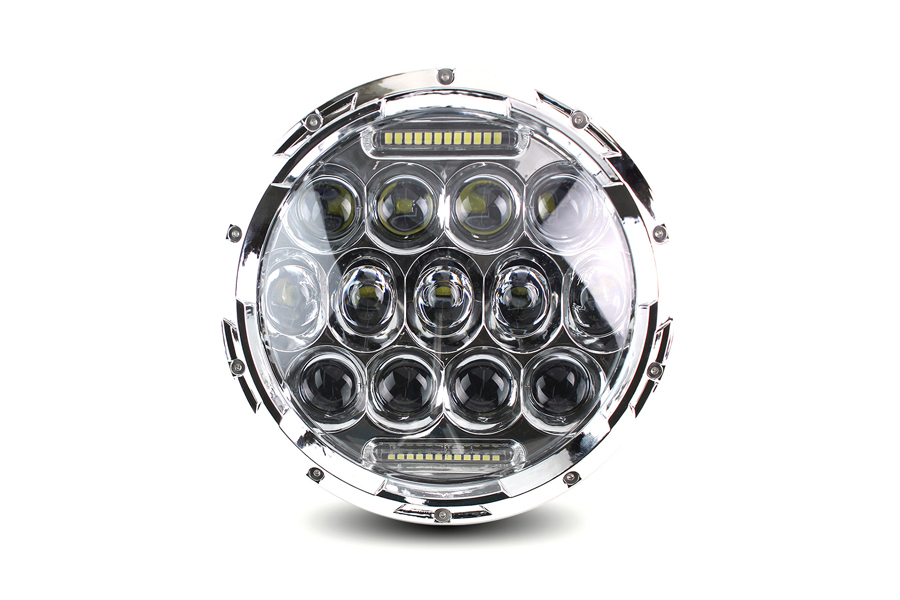 "Cyron 7"" Beast Integrated Headlamp Chrome"