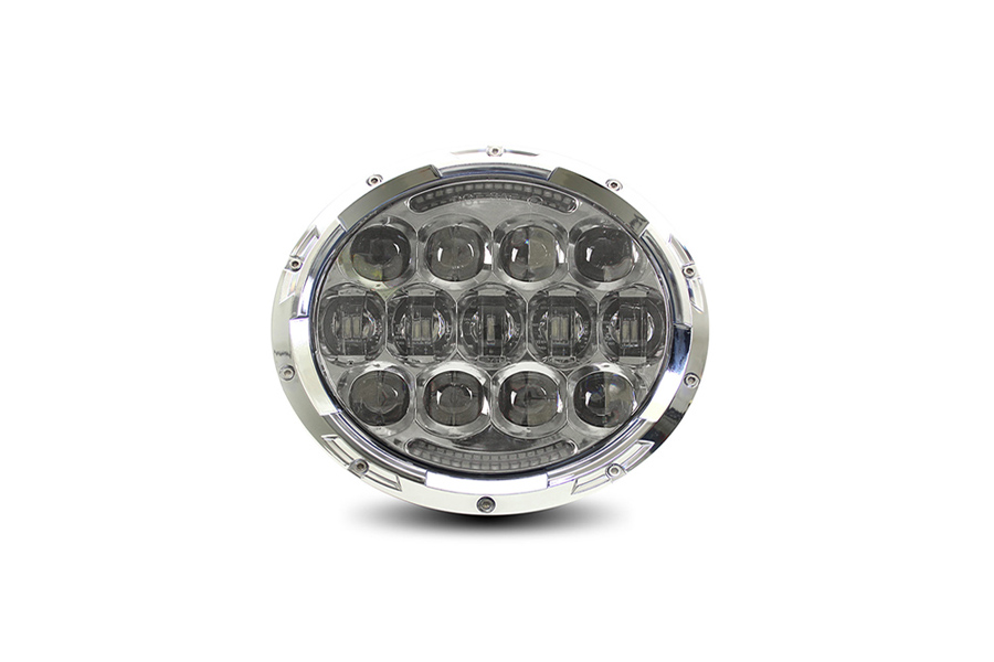 "Cyron Urban 7"" LED Headlamp Unit Chrome"