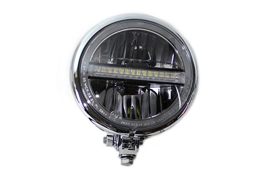 "5-3/4"" Bates Style LED Headlamp Chrome"