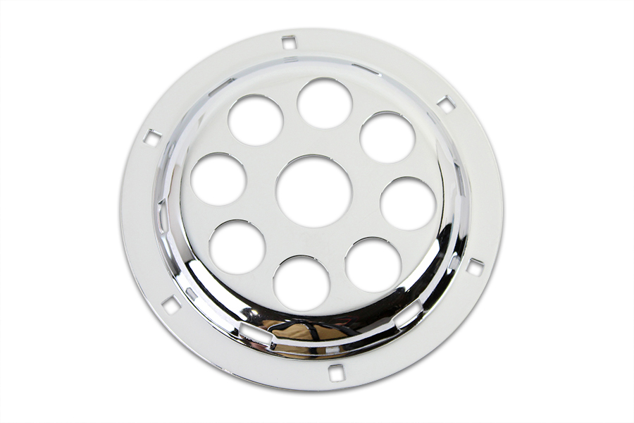 "Chrome 6"" Horn Face with Holes"