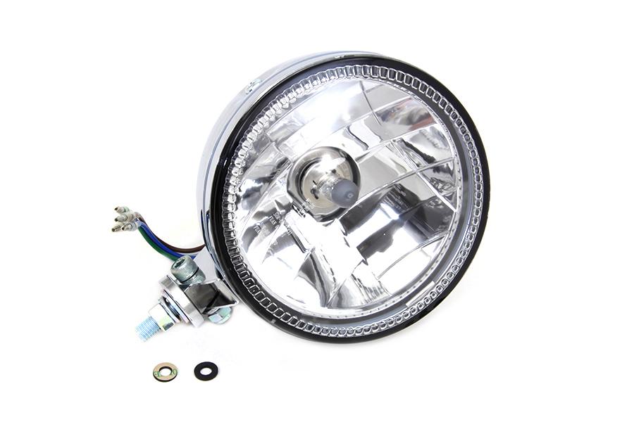 "5-3/4"" H4 Headlamp Unit Chrome"