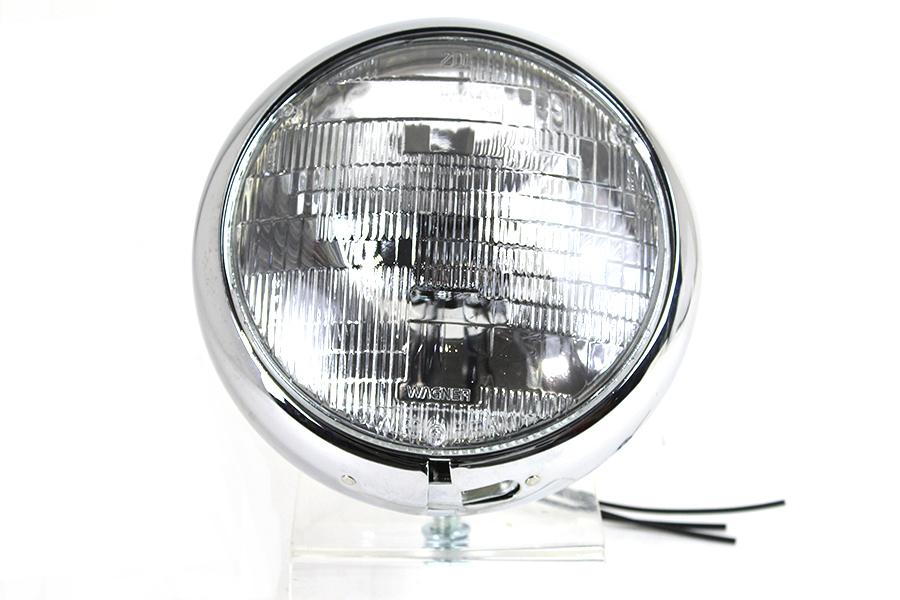 """Vintage 7"""" Round Headlamp 6 Volt"""