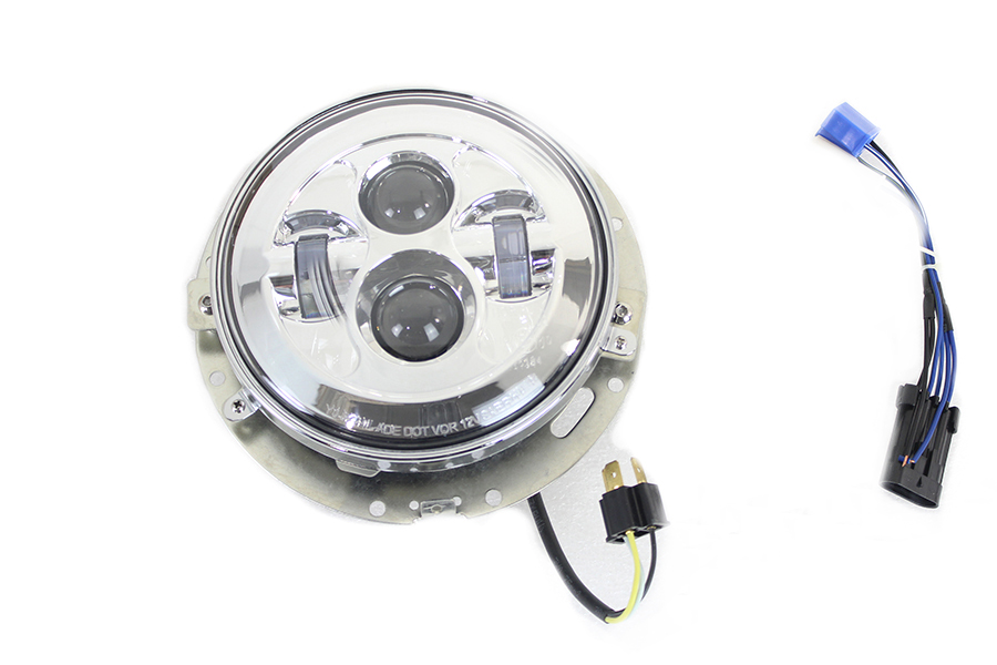 "7"" LED Headlamp Assembly Chrome"