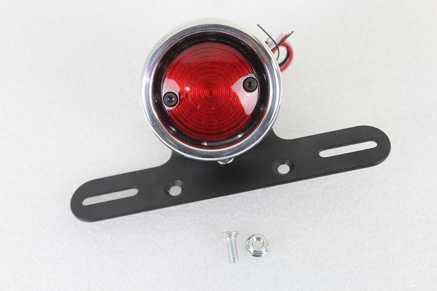 LED Round Tail Lamp Assembly Chrome