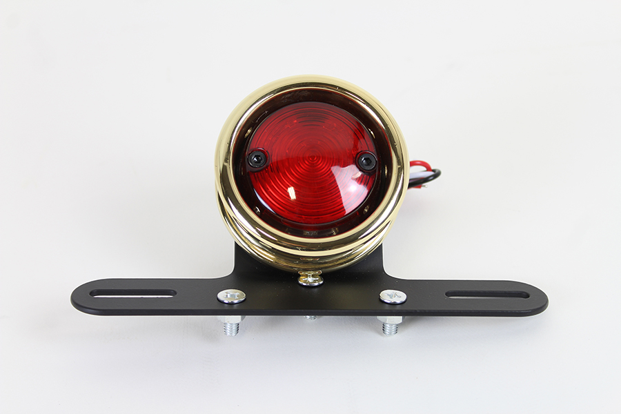 LED Round Tail Lamp Assembly Brass