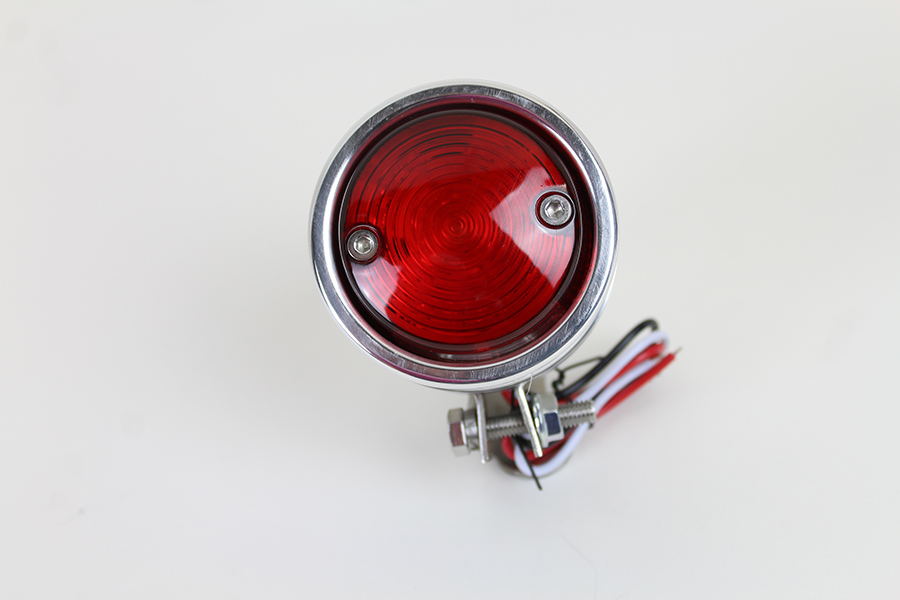 LED Bullet Tail Lamp Assembly Chrome