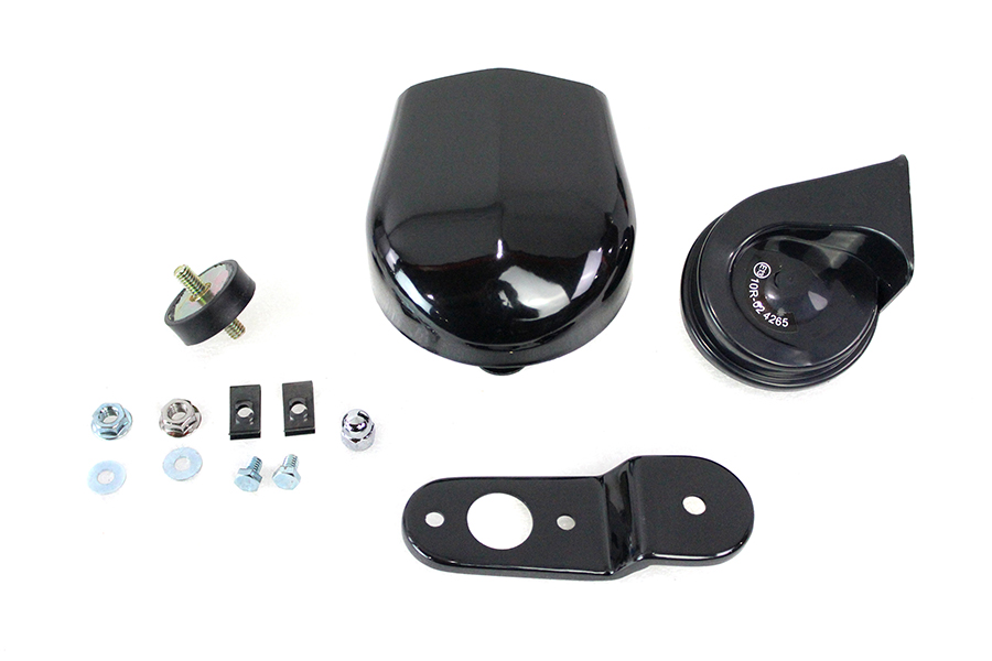 Softail Horn Kit with Black Cover