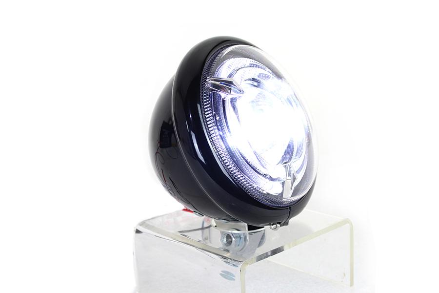 """5-3/4"""" Bates Style LED Headlamp Black"""