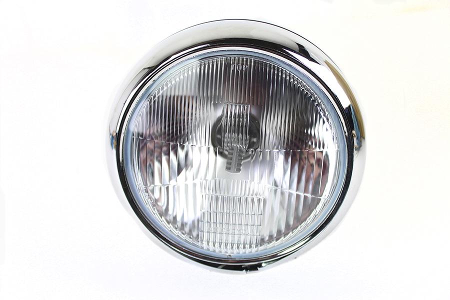 "7"" 6 Volt LED Headlamp Black"