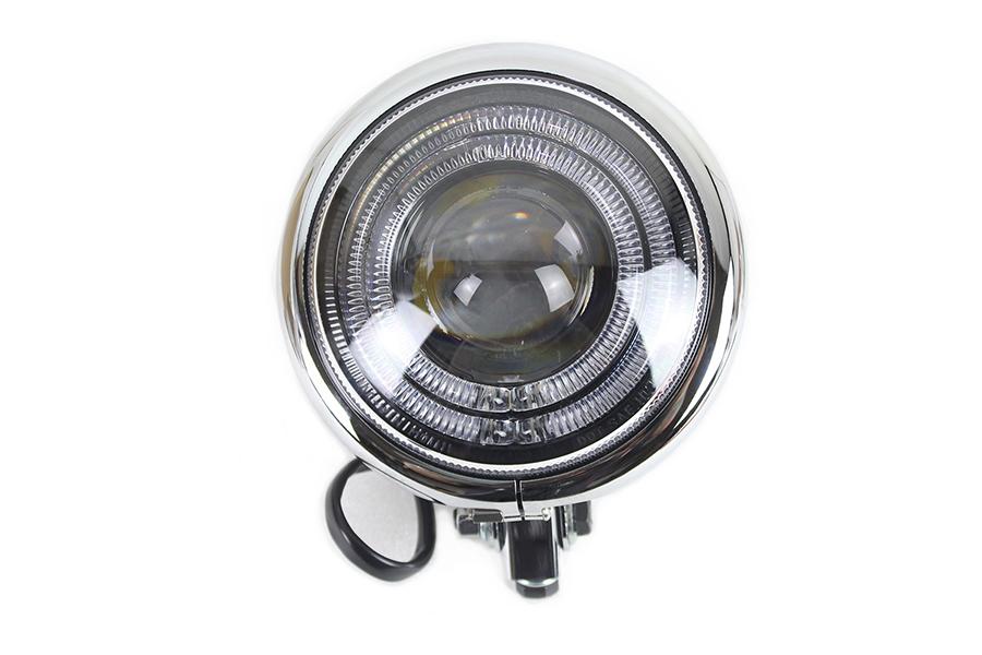 """5-3/4"""" Bates Style LED Headlamp Chrome"""