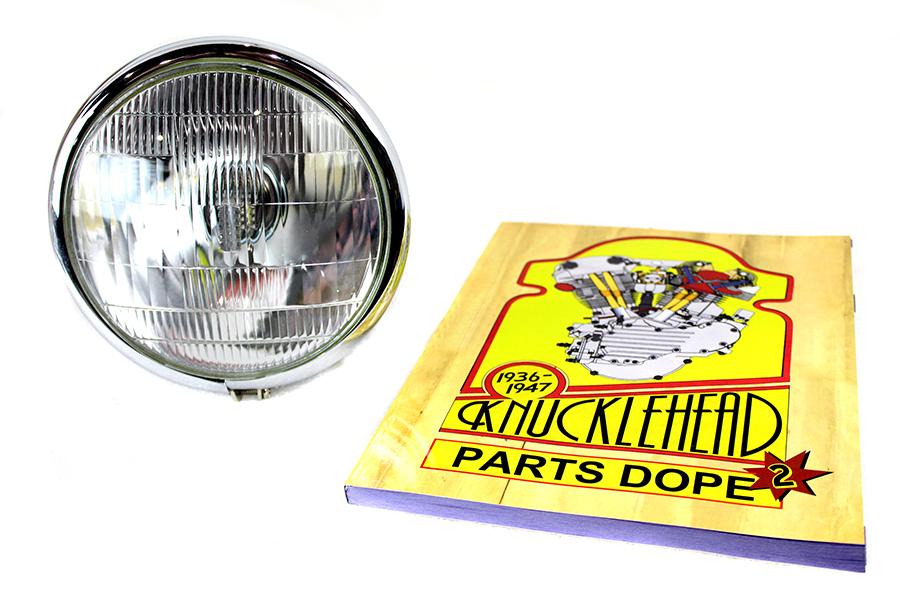 6 Volt LED Spring Fork Headlamp Black