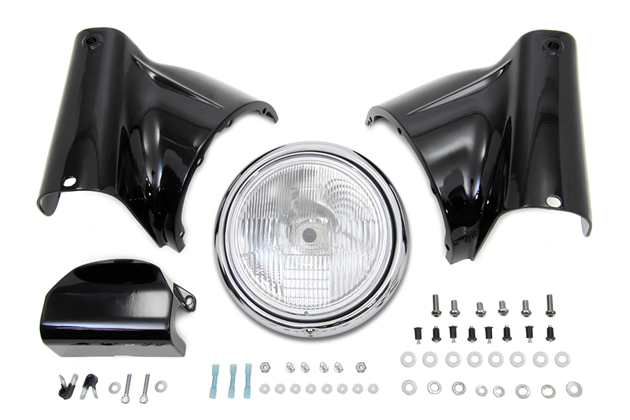 Black Headlamp Cowl Kit