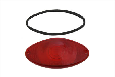 Tail Lamp Lens Cateye Style Red Chrome