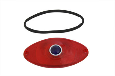 *UPDATE Tail Lamp Lens Cateye Style Red with Blue Dot Chrome