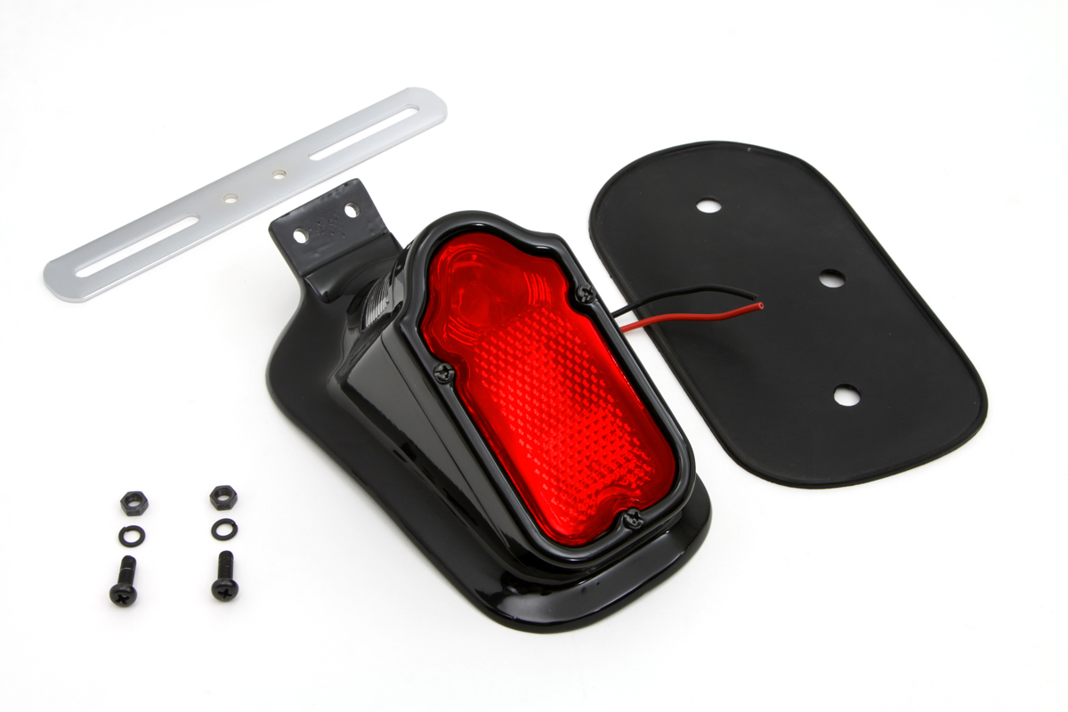 Black Tombstone Style Tail Lamp Assembly
