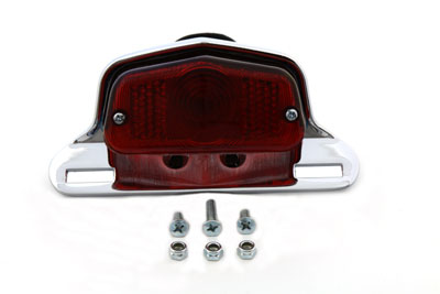 Chrome Sport Tail Lamp Assembly Large Lucas Style