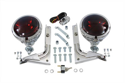 Red Pursuit Spotlamp Kit